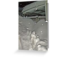 There Must Be A House Under That Snow ? Greeting Card