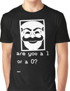 Are you a 1 or a 0? Mr. Robot - Fsociety (white) Graphic T-Shirt
