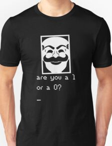 Are you a 1 or a 0? Mr. Robot - Fsociety (white) T-Shirt