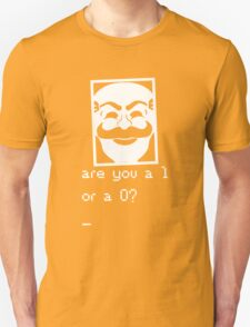 Are you a 1 or a 0? Mr. Robot - Fsociety (white) Unisex T-Shirt