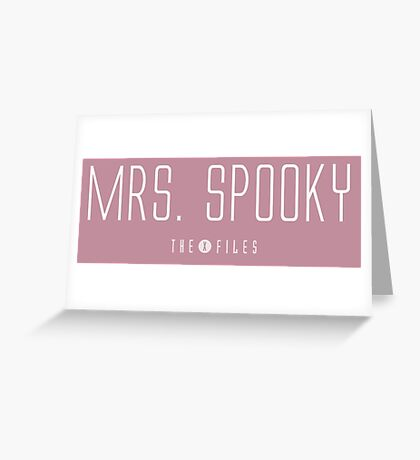 Mrs. Spooky - The X-Files Greeting Card