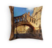 Hertford Bridge, Oxford Throw Pillow