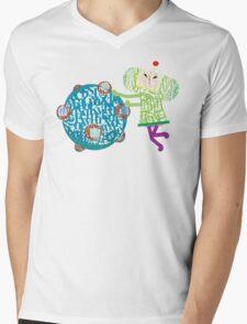 Prince Katamari Textography Mens V-Neck T-Shirt