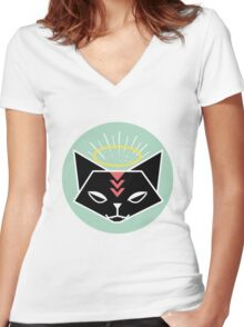 Cat Tribe 01 Women's Fitted V-Neck T-Shirt