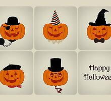 Jack O' Lantern Characters - Happy Halloween Card by RumourHasIt