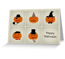 Jack O' Lantern Characters - Happy Halloween Card Greeting Card
