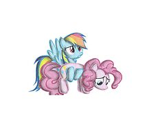 rainbow dash and pinkie pie by the3doggy1