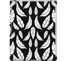 White on Black Modern Boho Tribal Graphic Feather Pattern iPad Case/Skin