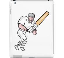 Cricket Player Batsman Batting Cartoon iPad Case/Skin