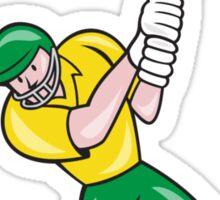 Cricket Player Batsman Batting Front Cartoon Isolated Sticker