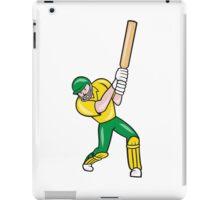 Cricket Player Batsman Batting Front Cartoon Isolated iPad Case/Skin