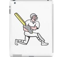 Cricket Player Batsman Batting Kneel Cartoon iPad Case/Skin