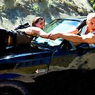 Michelle Rodriguez and Vin Diesel by Gabriel T Toro