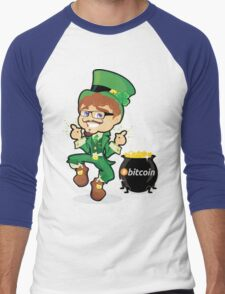 Bitcoin Leprechaun Men's Baseball ¾ T-Shirt