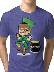 Bitcoin Leprechaun Tri-blend T-Shirt
