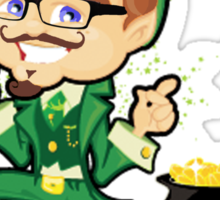 Bitcoin Leprechaun Sticker