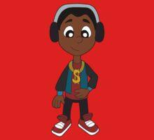 Hip hop boy cartoon Baby Tee
