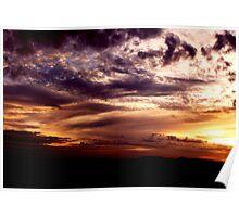 Smokey Sunset No.3 - Halls Gap ... Poster