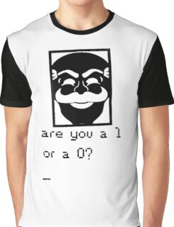Are you a 1 or a 0? Mr. Robot - Fsociety (black) Graphic T-Shirt