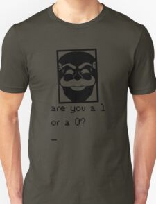 Are you a 1 or a 0? Mr. Robot - Fsociety (black) Unisex T-Shirt