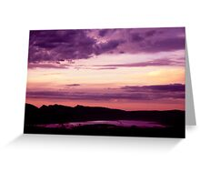 Dusk Over Wartook Reservoir - Halls Gap Greeting Card