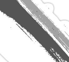 Black and White Brush Stroke  Sticker