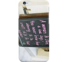 A woman is like iPhone Case/Skin