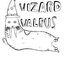 Wizard Walrus (black) by MichaelAshMash