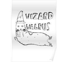 Wizard Walrus (black) Poster