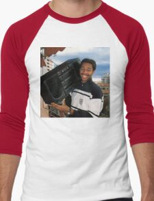 Thierry Henry With A Ghetto Blaster Men's Baseball ¾ T-Shirt