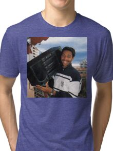 Thierry Henry With A Ghetto Blaster Tri-blend T-Shirt