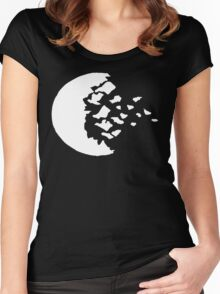 rwby fractured moon white  Women's Fitted Scoop T-Shirt