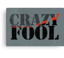 Vintage Look Crazy Fool Van Graphic Canvas Print