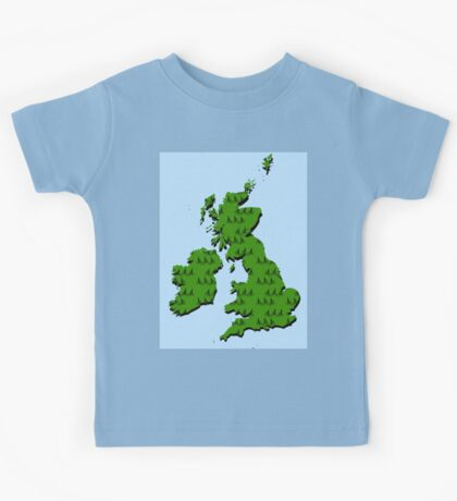 Cycling in Britain Kids Tee