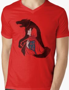 Taming of the wolf Mens V-Neck T-Shirt