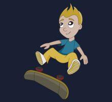 Skateboarder boy cartoon Baby Tee