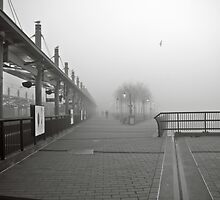 N J Transit's Lightrail Station Hoboken NJ by pmarella