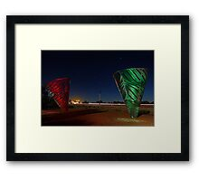 Water Dance Sculptures Western Australia  Framed Print