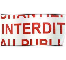 Interdit Poster