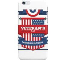 US Veterans Day iPhone Case/Skin