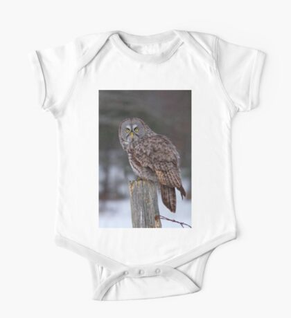 Piss Off! - Great Grey Owl One Piece - Short Sleeve