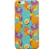 Pattern on case  with pretty african girl and maracuja iPhone Case/Skin