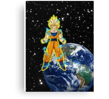 dragaonball z Goku Charging Canvas Print