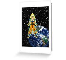 dragaonball z Goku Charging Greeting Card
