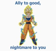 Goku, ally to good. Kids Clothes