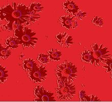 Daisies (red) by Ludwig Wagner