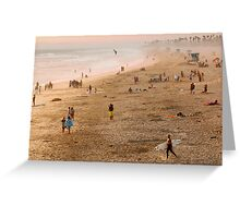 Day At The Beach - Huntington Beach California Greeting Card