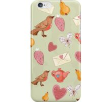 Robin seamless pattern iPhone Case/Skin