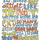 Strong Lyrics by maddiedrawings