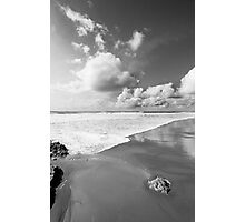 bw beach Photographic Print